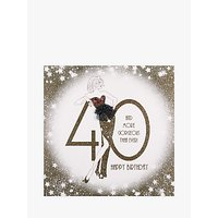 Five Dollar Shake 40 And You Don't Look A Day Over Fabulous Birthday Card