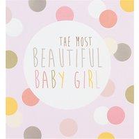 Caroline Gardner Beautiful New Baby Girl Card