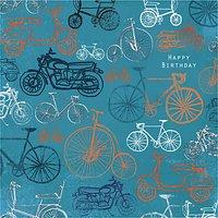 Paper House Bikes Birthday Card