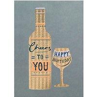 Louise Tiler Happy Birthday Cheers Greeting Card