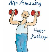 Woodmansterne Weightlifting Birthday Card
