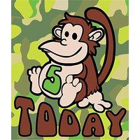 Portfolio 5 Today Chimpanzee 5th Birthday Card