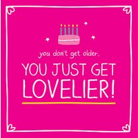 Pigment You Just Get Lovelier Birthday Card