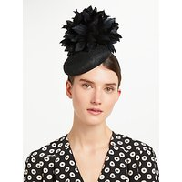 John Lewis & Partners Mavis Pillbox Fascinator, Black