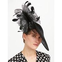 John Lewis Matilda Side Up Disc Occasion Hat, Black
