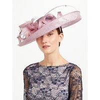 John Lewis & Partners Sacher Large Side Upturn Flower Detail Occasion Hat, Pink