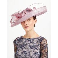 John Lewis Sacher Large Side Upturn Flower Detail Occasion Hat, Pink