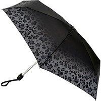 Fulton Tiny 2 Lavish Leopard Compact Folding Umbrella, Grey