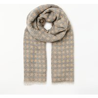 Collection WEEKEND by John Lewis Star Jacquard Cotton Scarf, Grey Mix
