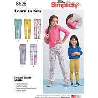 Simplicity Childrens Learn To Sew Leggings Sewing Pattern, 8525