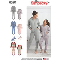 Simplicity Girl's and Misses' Mother Daughter Jumpsuits Sewing Pattern, 8520, A