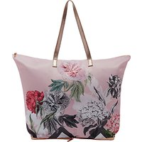 Ted Baker Leanna Palace Gardens Foldaway Shopper Bag, Dusky Pink