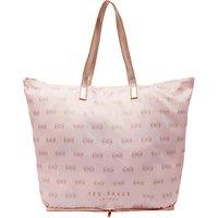 Ted Baker Jeb Foldaway Shopper Bag, Light Pink