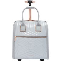 Ted Baker Clariaa Quilted Bow Travel Bag, Silver