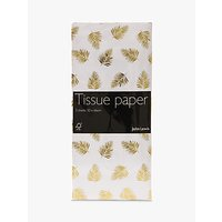 John Lewis & Partners Foiled Gold Leaf Tissue Paper, 3 Sheets