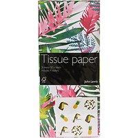 John Lewis Tropical Leaf Tissue Paper, 3 Sheets