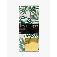John Lewis Tropical Green Leaf Tissue Paper, 3 Sheets