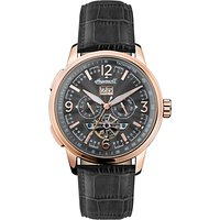 Ingersoll Mens The Regent Automatic Chronograph Date Heartbeat Leather Strap Watch