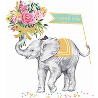Louise Tiler Elephant Bouquet Thank You Card