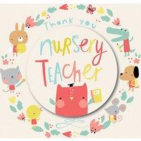 Rachel Ellen Designs Nursery Teacher Thank You Card