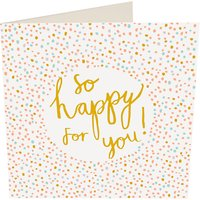 Caroline Gardner So Happy For You Wedding Card