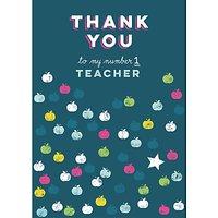 Art File Number 1 Teacher Greeting Card