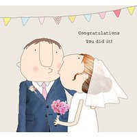 Rosie Made A Thing You Did It Wedding Card