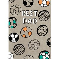 Paper Salad Footballs Fathers Day Card