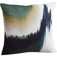 west elm Ikat Colour Block Cushion, Midnight