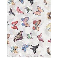 Gerard Darel Thomsen Butterfly Scarf, White/ Multi