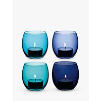 LSA International Coro Tealight Holder, Set of 4, Lagoon