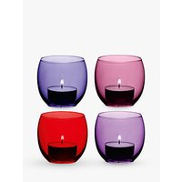 LSA International Coro Tealight Holder, Set of 4, Berry