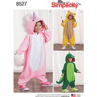 Simplicity Children's Animal Jumpsuits Sewing Pattern, 8527