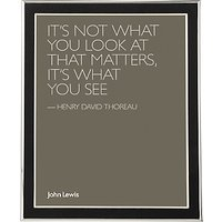 John Lewis & Partners Faux Leather Inlay Photo Frame, 8 x 10 (20 x 25cm), Black/Silver