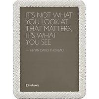 John Lewis Diana Photo Frame, 4 x 6 (10 x 15cm), Silver