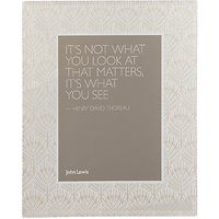 John Lewis & Partners Pavone Peacock Feathers Glass Photo Frame, 5 x 7 (13 x 18cm)