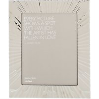 John Lewis & Partners Fused Glass Waves Photo Frame, 8 x 10 (20 x 25cm), Silver