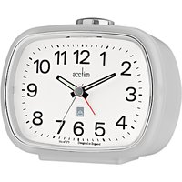 image-Acctim Camille Analogue Alarm Clock, Soft Grey