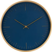 House by John Lewis Wall Clock, Navy/Brass, 30cm