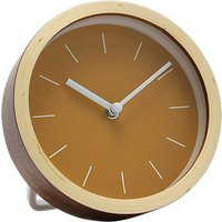 London Clock Company Plywood Mantel Clock, Dia.16cm, Natural/Sulphur
