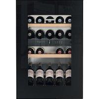 Liebherr EWTGB1683 Vinidor Integrated Wine Cabinet, Black Glass