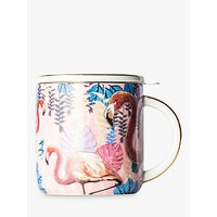 T2 Birds Of A Feather Infuser Mug With Lid, Rose, 350ml