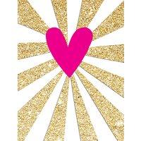 Rachel Ellen Neon Heart Notecards, Pack of 5