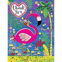 Rachel Ellen Thank You Flamingo Notecards, Pack of 5