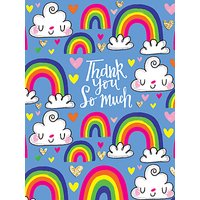 Rachel Ellen Thank You So Much Rainbow Cards, Pack of 5
