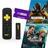 NOW TV Smart Stick with Voice Search & 1 Month Movies Pass