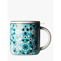 T2 Dazed and Dazzled Tea Infuser Mug and Lid, Iced Turquoise, 400ml