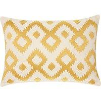 John Lewis & Partners Ikat Cushion, Saffron