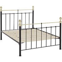 Wrought Iron And Brass Bed Co. Albert Bed Frame, Double, Black