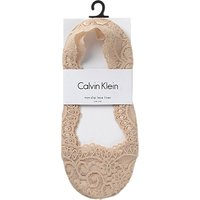 Calvin Klein No Show Liner Lace Socks, Bare